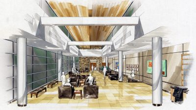 Baptist Health South Campus - Lobby Concept